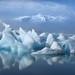 Glacier Lagoon by walking along