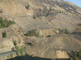 Western edge of the Nile Landslide
