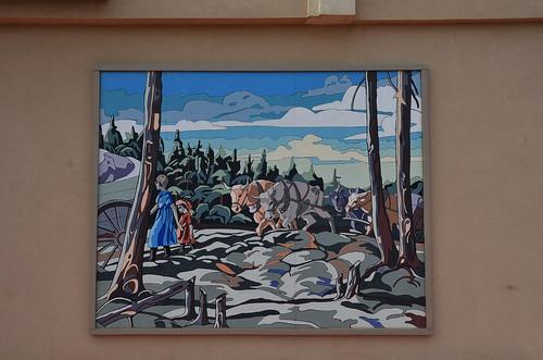 summer canada june mural alberta beaverlodge 6月 2015 六月 カナダ minazuki 水無月 アルバータ州 rokugatsu monthofwater 平成27年