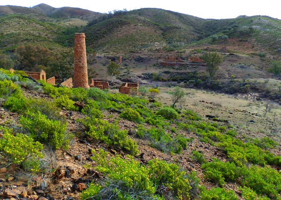 Nuccaleena Mine Ruins, via Angorichina, Northern Flinders
