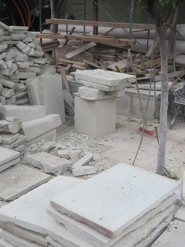 Sidewalk stones   by loppear