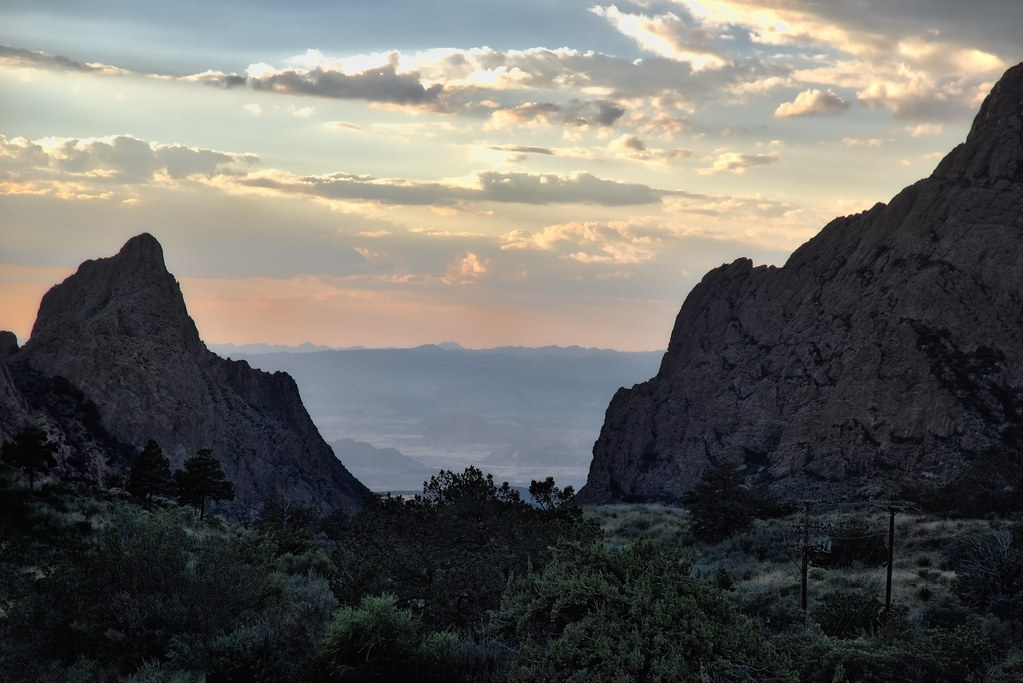 Sunset in the Chisos Mountains (Big Bend National Park)