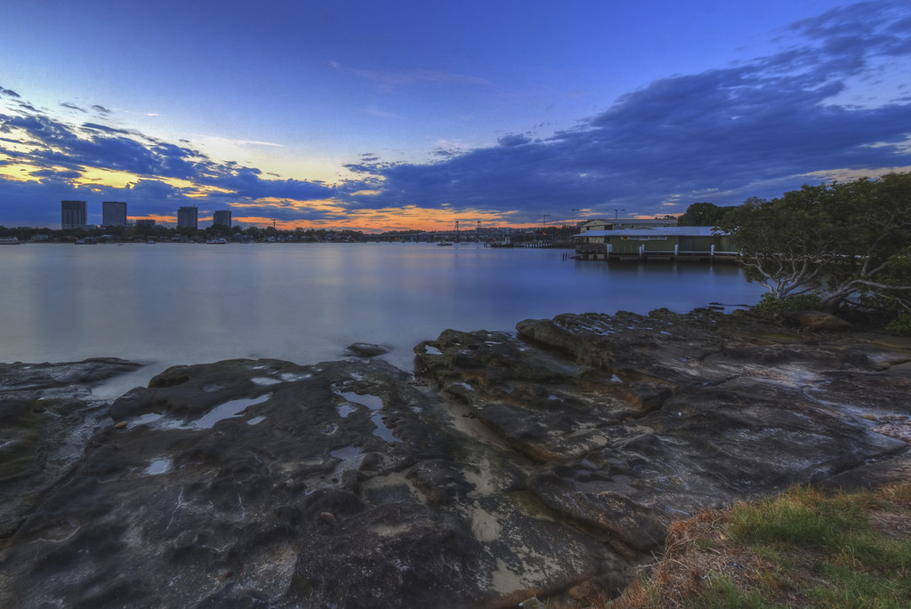 Twilight at the riverside