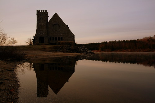 old morning west reflection abandoned church water stone sunrise ma early massachusetts reservoir boylston wachusett oldstonechurch westboylston