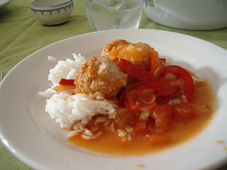 meatballs with tomatoes & peppers