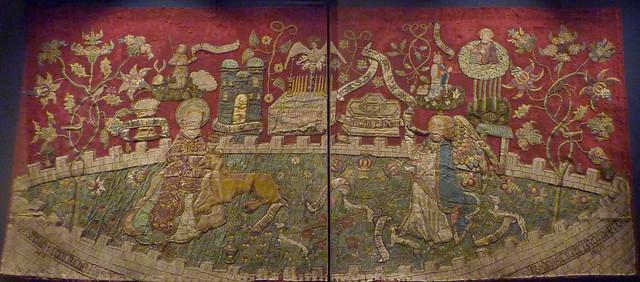 Limburg - Altarfrontal with Unicorn annunciation