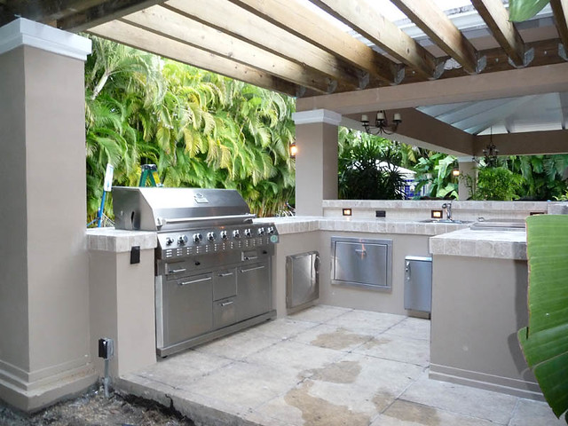 Outdoor Kitchen Pergola Built In Grill South Florida Outdo Flickr