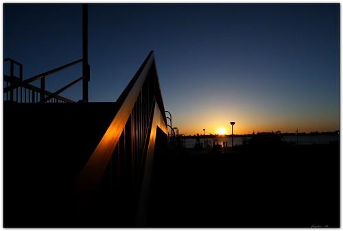 sunset pier louisiana downtown batonrouge riverfront bluehour canonefs1022mmf3545usm mrgreenjeans gaylon artistpicks gaylonkeeling