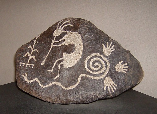 Kokopelli petroglyph by David Morris