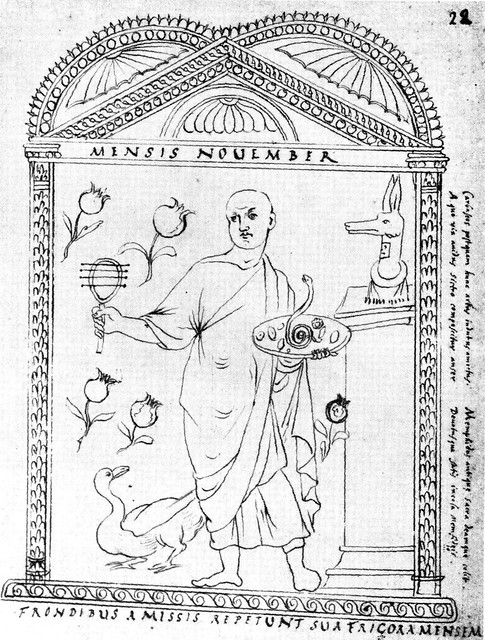 Roman calendar from 354 - November