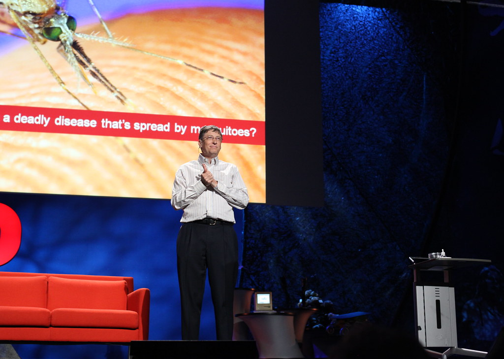 Bill Gates at TED | He just released a bunch of mosquitos in… | Flickr