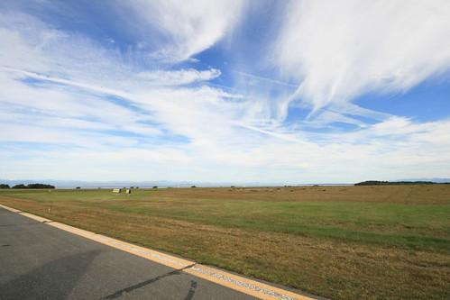 blue canada green clouds airport day cloudy britishcolumbia goose porthardy grumman amphib pacificcoastal 365project canonrebelxti cyzt