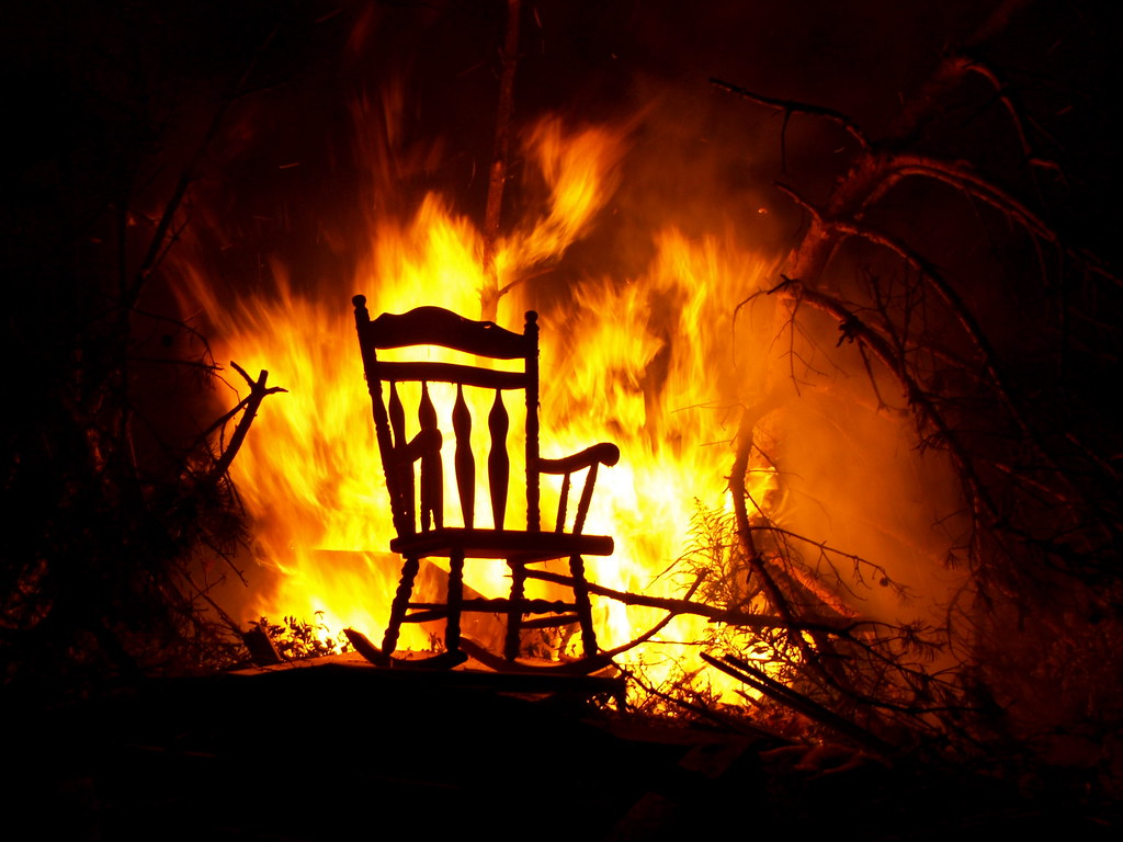 Chair On Fire I Attended A Party Over The Weekend Hosted B