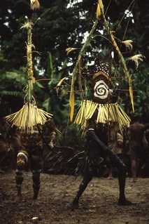 Waina men in ritual attire, Aida ritual, Umeda, 1982 (Photo M. MacKenzie). | by uscngp
