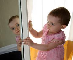 Toddler in mirror   by Samantha Steele