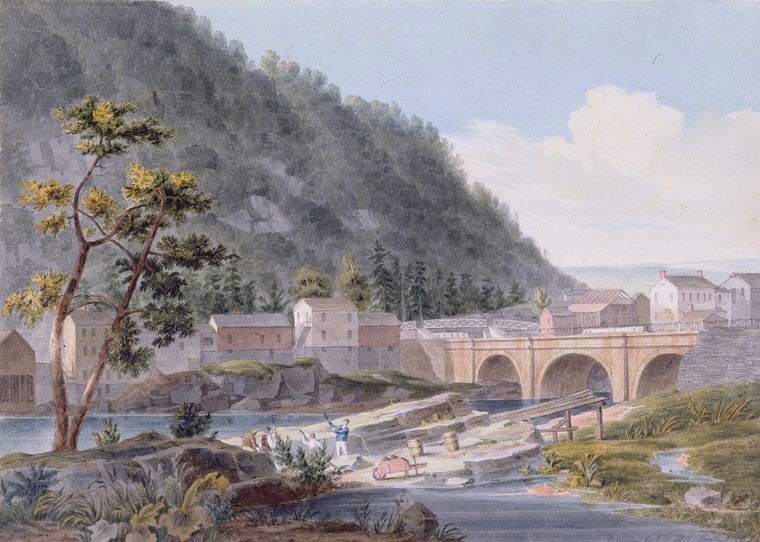 [View on the Erie Canal.]
