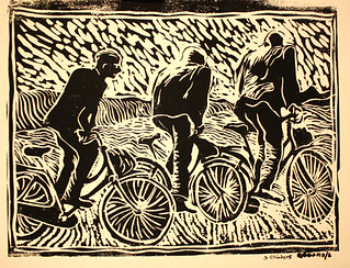 My first Bike art or Bicycle art, Three out of the saddle | by mike_rubbo