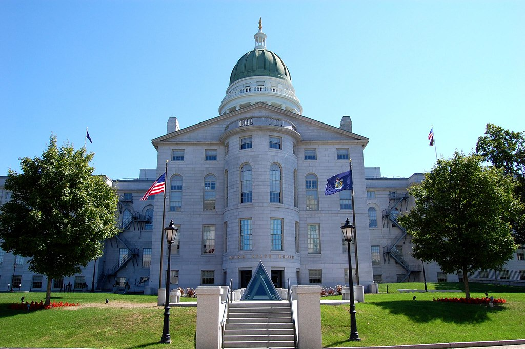 State Capitol, Augusta, Maine (ME)   The Maine State House ...