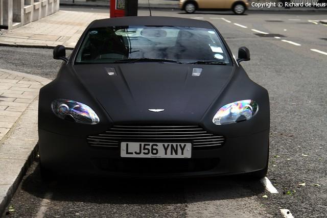 Aston Martin Amv8 Vantage Matte Black Looks Like Charcoal Flickr