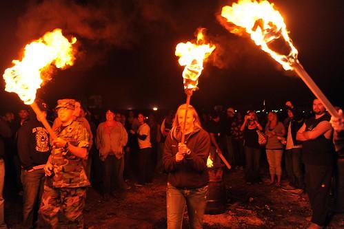 ASU Homecoming Bonfire Torch Parade