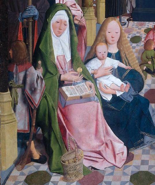 Geertgen tot Sint Jans - The holy kinship, detail 3 (1490) - Amsterdam Rijksmuseum