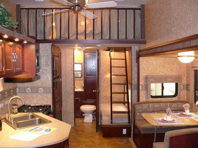 Pull trailer with a loft.