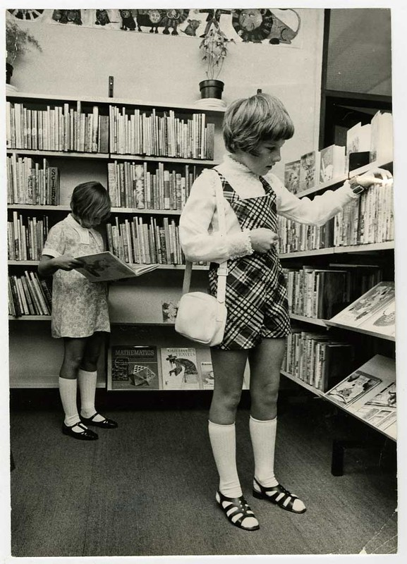 Choosing books at new Hornby Library