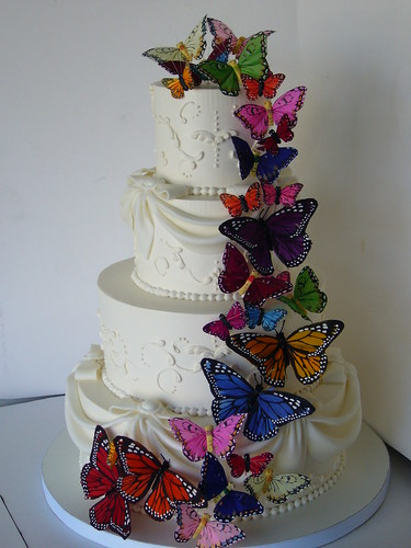 Butterfly wedding cake - AFTER | by amber.mckenney