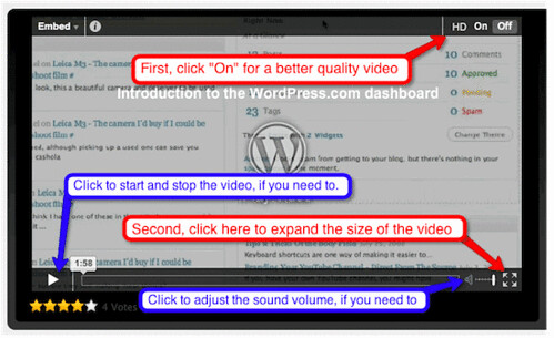 How to use the video player on WordPress.tv