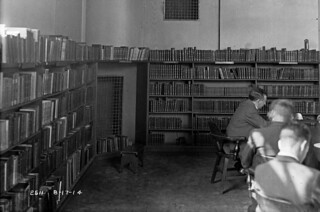 Interior of Seattle Public Library central branch, 1914