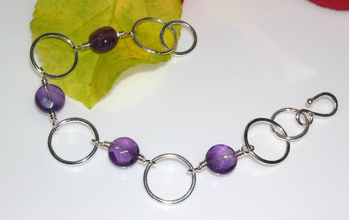 Fused circle & amethyst bracelet 001 | by Wicked Dark Photography