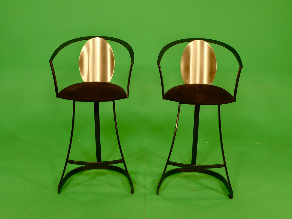Two Chairs in front of a Green Screen | At WBZ-TV Studios