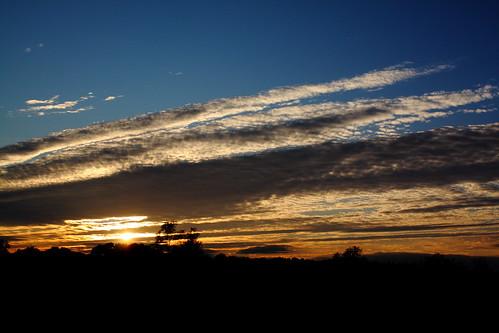sunset clouds nc northcarolina iredellcounty