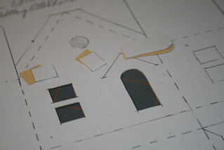 cut out windows, doors, etc.   by christmasnotebook