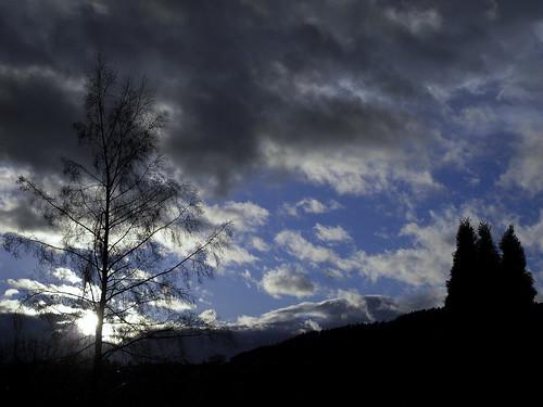 winter sky sun storm weather silhouette clouds calmafterstorm