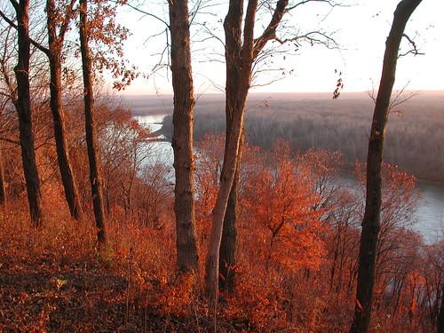 nov statepark orange color fall leaves mo missouri kansas westonbend