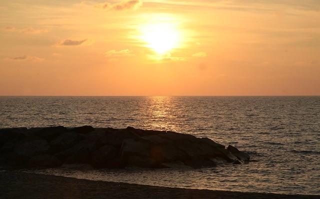 Tramonto sulla costa Tirrenica - Coreca