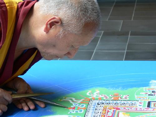 Monk Making Mandala