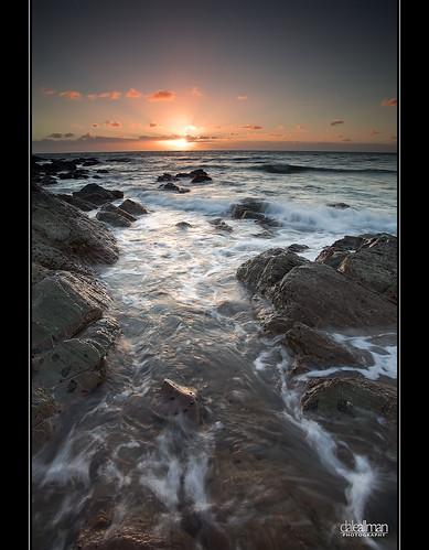 ocean sunset sky sun seascape motion nature water clouds canon flow rocks surf waves australia wideangle explore adelaide southaustralia 1740 marino darylbenson canon5dmkii 5dmkii —obramaestra—