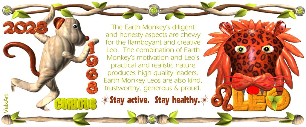 ValxArt 1960 2020 Earth Monkey Leo w  astrology horoscope … | Flickr