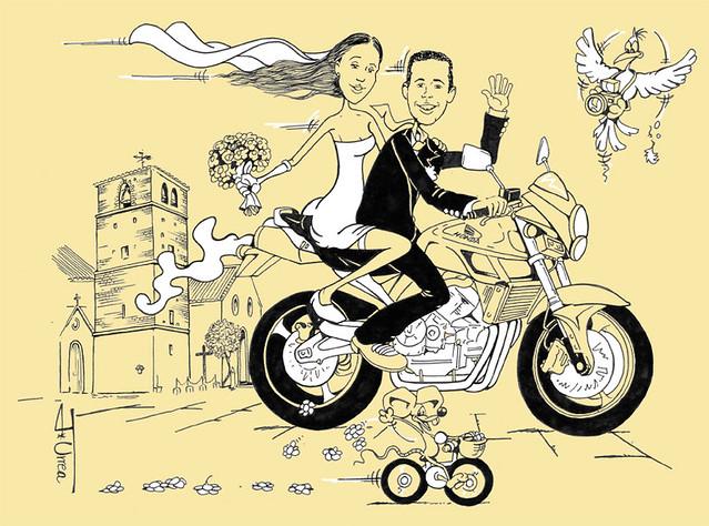 Moteros En Málaga Invitaciones De Boda Personalizadas Para