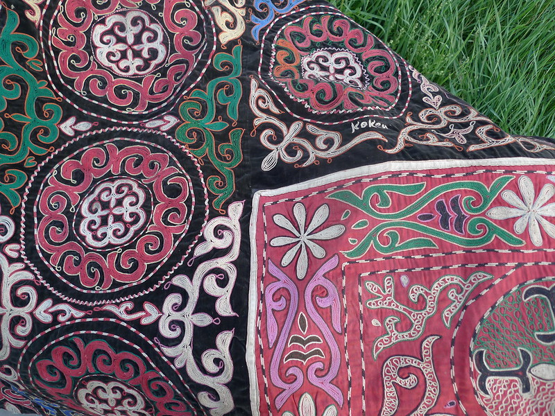 Kazakh Fabric2 (on velvet)