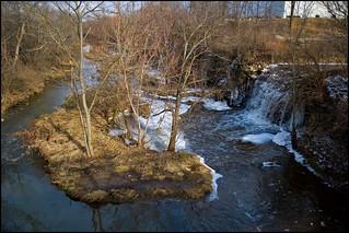 Waterfall and Island