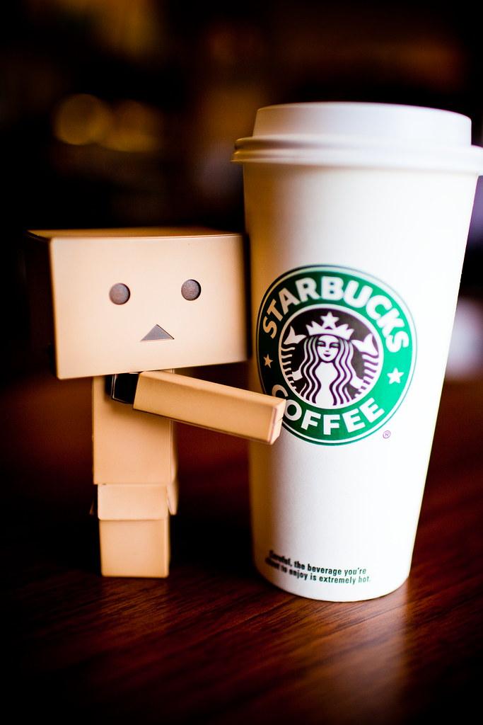 I Love Starbucks Danboard Drinking His Favorite Coffee