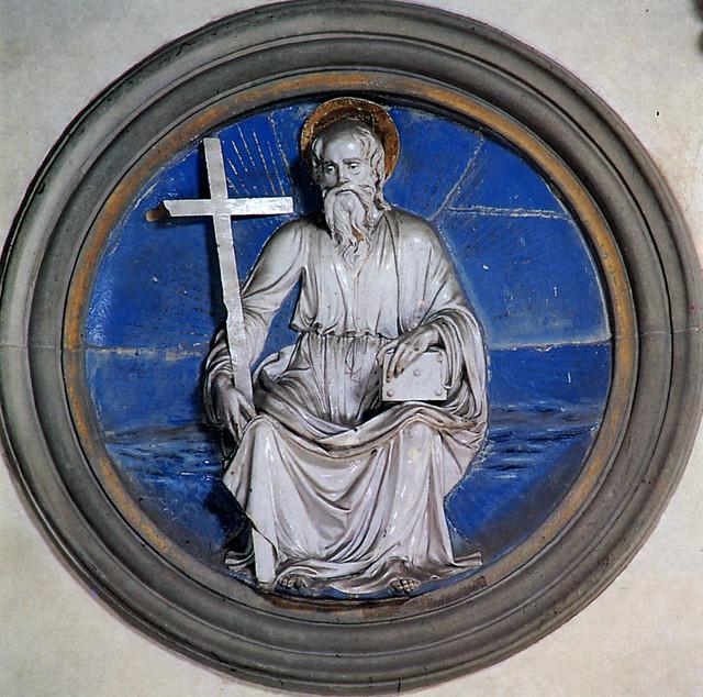 Luca della Robbia - Sant'Andrea, 1460-1465. Firenze, Santa Croce, Cappella Pazzi