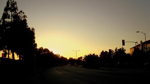 school sunset summer color night digital train sunrise dark fun photography high sony tracks trains cedar newark