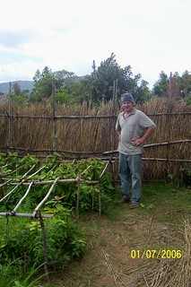 Steve by his tree nursery