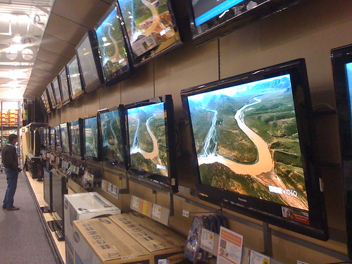 Too many TVs at Best Buy | by Robert Scoble
