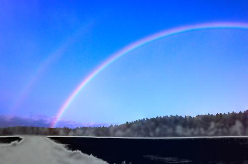 sky landscape rainbow digitalize photomanipulate