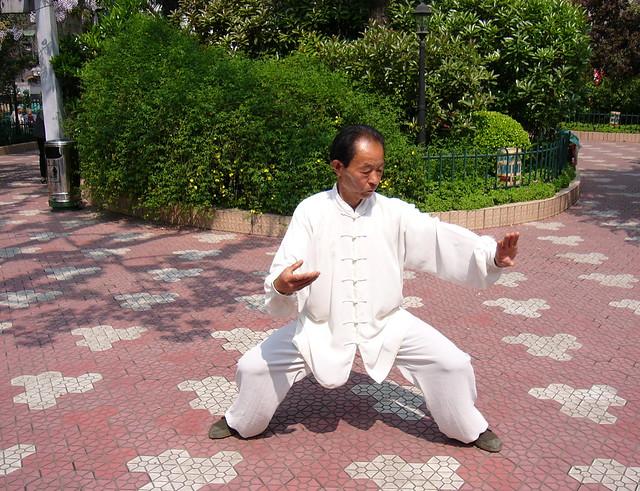 Martial arts master in a Shanghai park